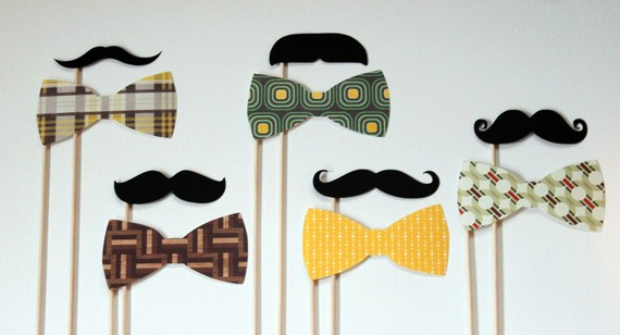 Moustache on a Sick Photo Booth Props on a by LittleRetreats