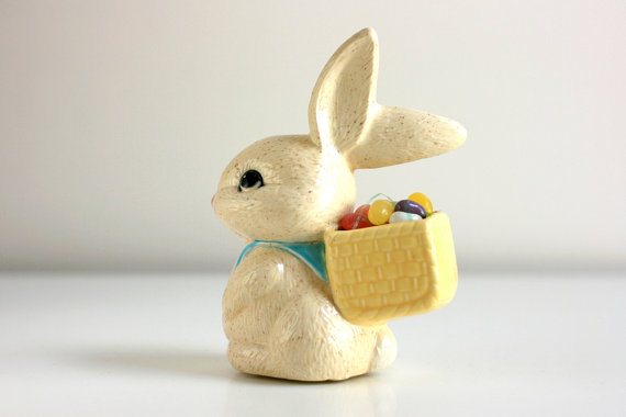 Vintage Ceramic Easter Bunny by WiseApple on Etsy