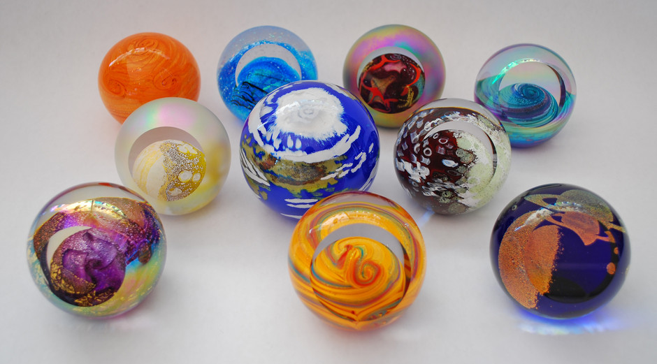 Silver Quill Antiques and Gifts - Glass Eye Studio Celestial Series Paperweights