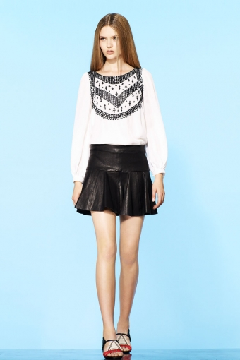 【LASO ラソ】新作●2012/Pre Spring 円高還元●Thakoon ●Stretch Leather Tulip Skirt タクーン