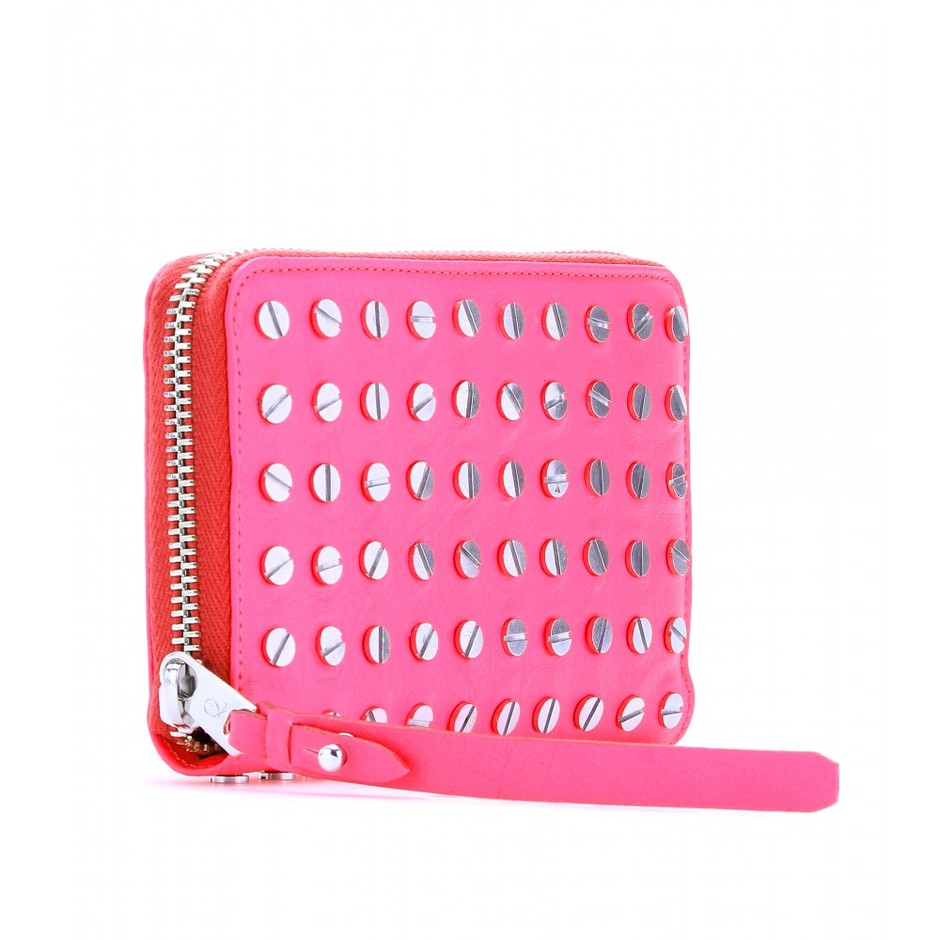 mytheresa.com - McQ Alexander McQueen - NAIL-HEAD EMBELLISHED LEATHER WALLET - Luxury Fashion for Women / Designer clothing, shoes, bags