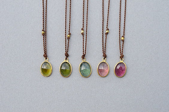 Enclosed Small Oval Tourmaline Necklace (Margaret Solow) - SOURCE objects