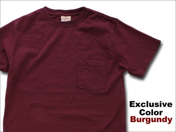 GOODWEAR - POCKET T EXCLUSIVE COLOR *BURGUNDY Going!Coming!