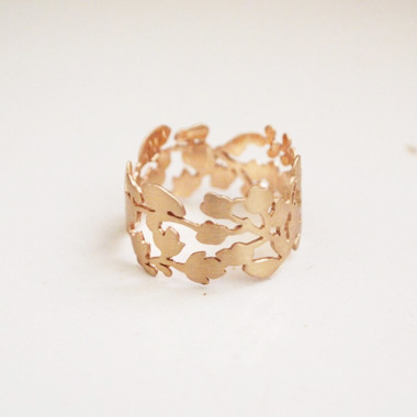 PLANT / PLANT hand made jewelry -rings002YellwGold