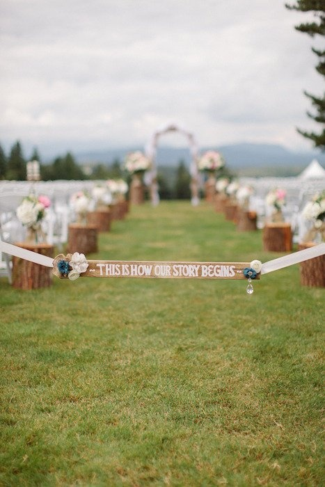 """Wedding / """"This is how our story begins."""""""