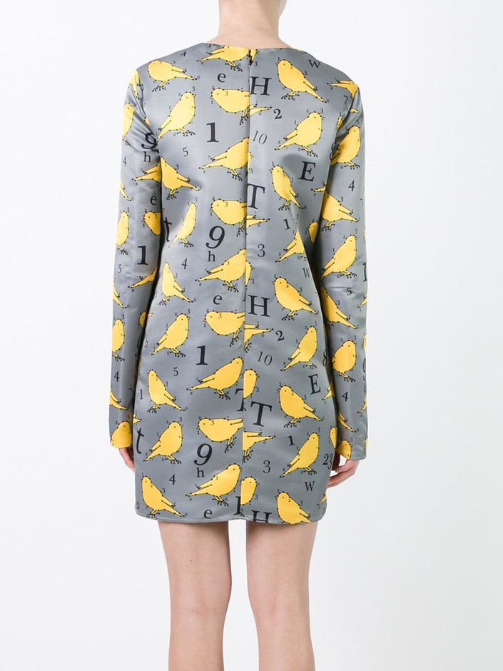 Au Jour Le Jour Bird Print Dress - Jofré - Farfetch.com