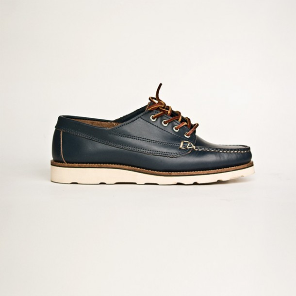 Oak Street Bootmakers | Navy Vibram Sole Trail Oxford