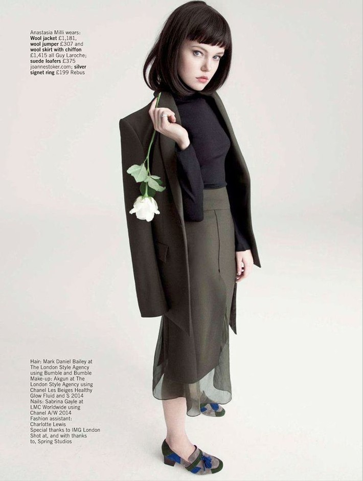 'Look Sharp' by Olivia Frolich for UK Glamour September 2014 [Editorial] - Fashion Copious
