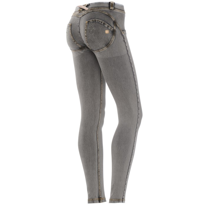 WR.UP® SHAPING EFFECT - Taille Basse - SKINNY - Effet Jean - Avec Strass | Freddy