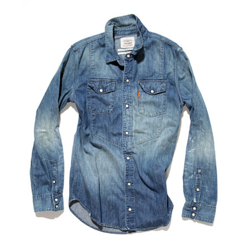 Robert Geller for Levi's Reconstructed Chambray Work Shirt on Twitpic
