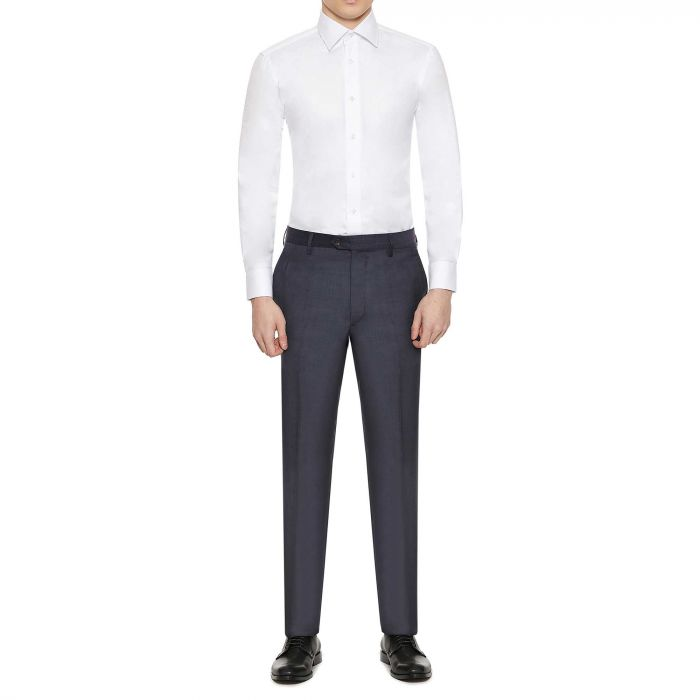 WHITE PINPOINT TAILORED FIT SHIRT | Gieves & Hawkes