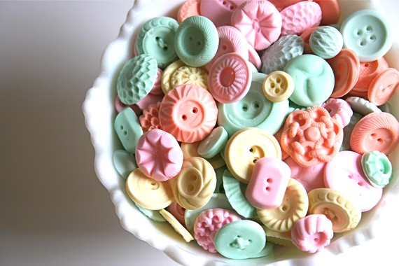 Peppermint Candy Buttons 50 by andiespecialtysweets on Etsy