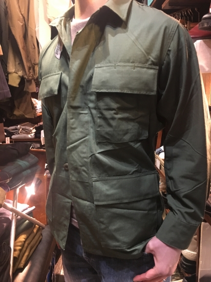 90's Dead Stock US Army GREEN 483 BDU Jacket 1Wash & Tumble Dry Olive - ILLMINATE Official Online Shop