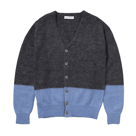TWO-TONE MOHAIR CARDIGAN|KNIT & SWEAT|HEADPORTER OFFICIAL ONLINE STORE|ヘッドポーター オンラインストア