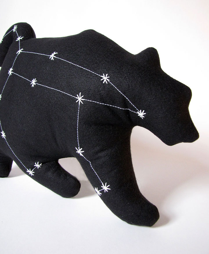 Ursa Major Constellation The Great Bear in Black by lovecalifornia