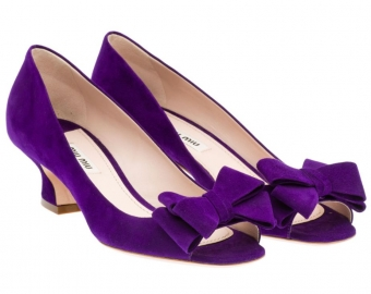 【LASO ラソ】【'12Fall-Winter】Miu Miu Suede open-toe pump in PURPLE ミュウミュウ