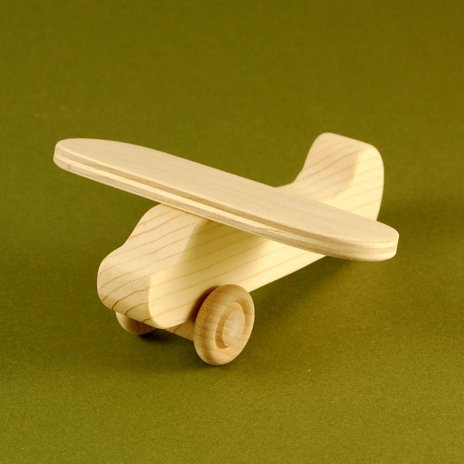 Airplane Party Favors - Package Of 10 Wood Toy Airplanes on Luulla