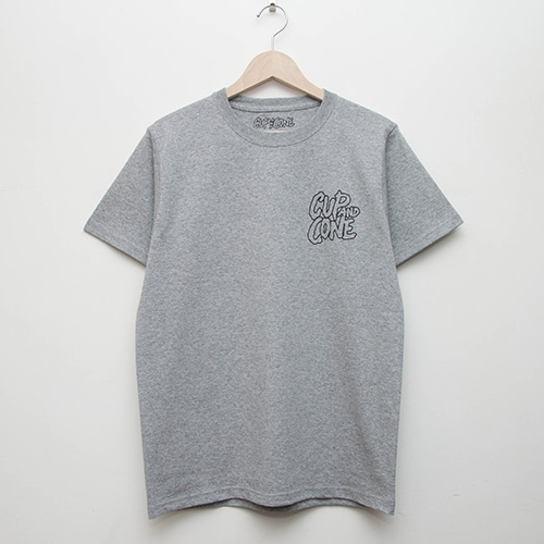 5th Anniversary Tee - Grey - cup and cone WEB STORE