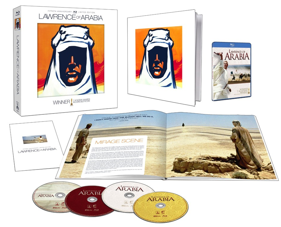 Lawrence d'Arabie - Edition Deluxe limitée 50e anniversaire - 3 Blu-ray + 1 CD audio: Amazon.fr: Peter O'Toole, Omar Sharif, Alec Guinness, Anthony Quinn, David Lean: DVD & Blu-ray