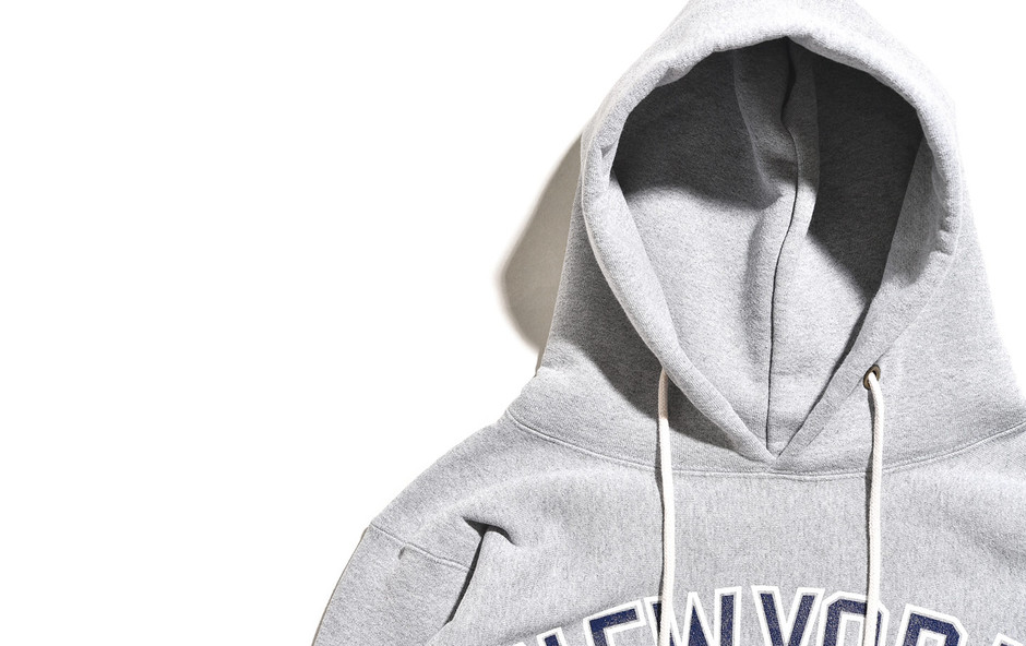 Reverse Weave Pull Over Sweat Parka Printed-OX