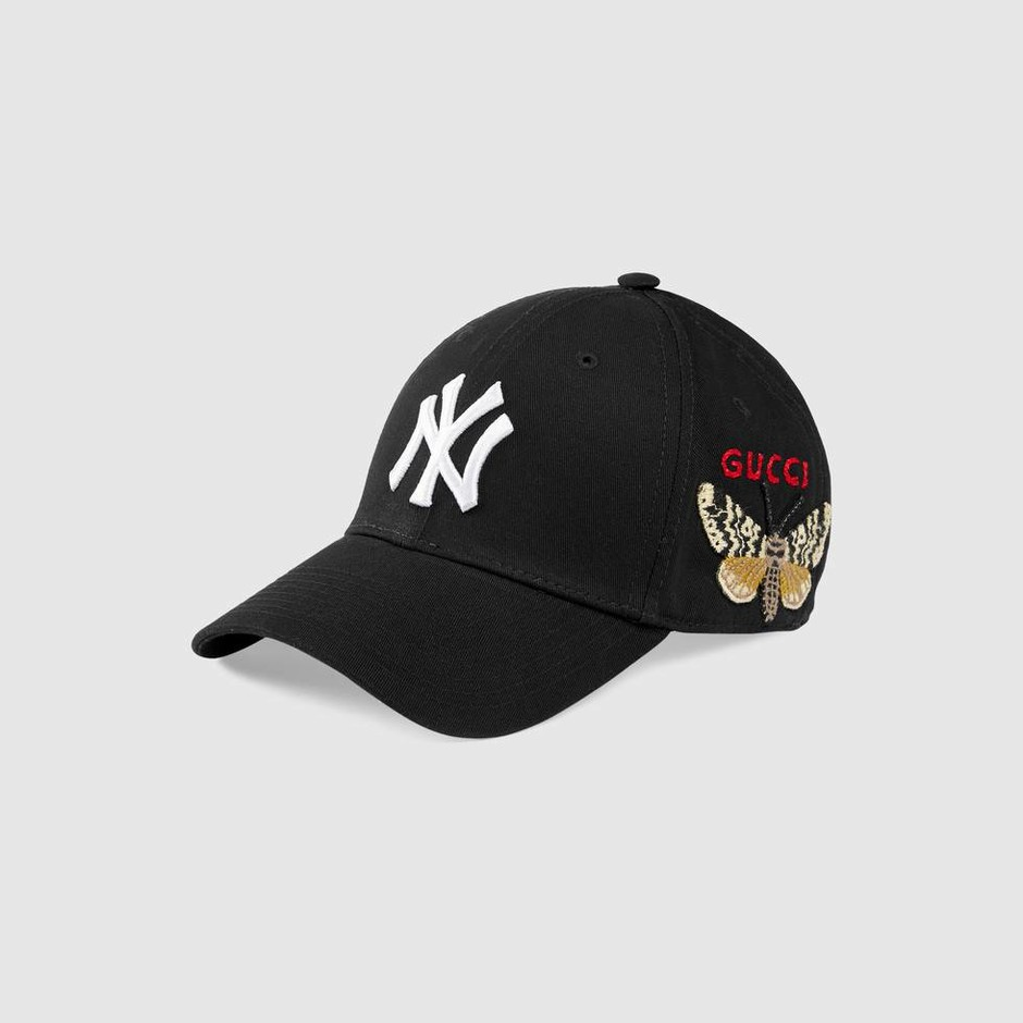 Baseball cap with NY Yankees™ patch - Gucci Men's Hats & Gloves 5385654HE201000