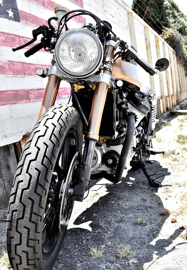 Blawg: fixedcafe: honda cx500 cafe racer the forks are...