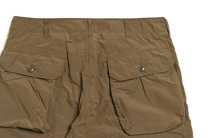 ENGINEERED GARMENTS/Norwegian Pant-4.5oz Waxed Cotton-Olive