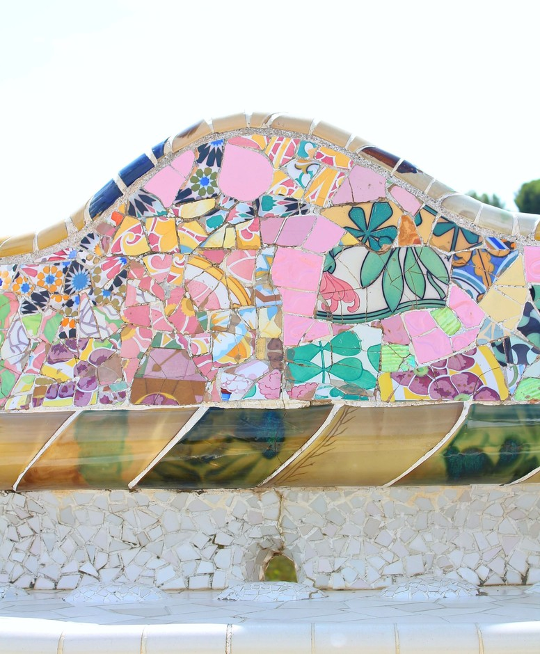 Park Guell in Barcelona - Antoni Gaudi's colourful work. | Little Big Bell
