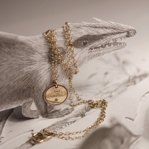 RUST jewellery — gold disk necklace.... {メッセージタグのネックレス}