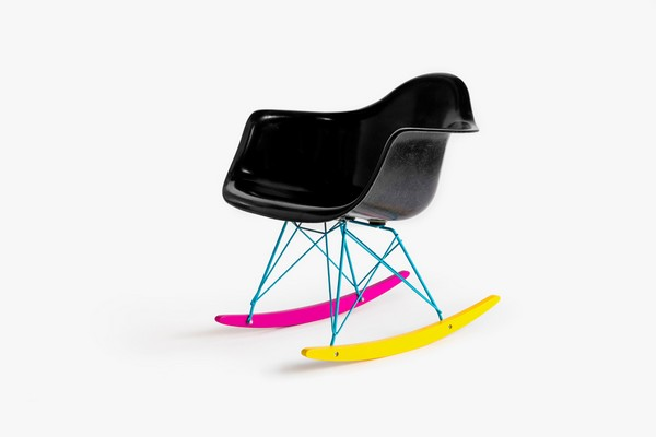 "The Hundreds X Modernica ""CMYK"" Fiberglass Arm Shell Rocker Viacomit"