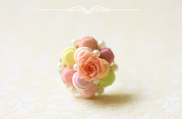 Dessert Jewelry - Pastel French Macaron Ring | Luulla