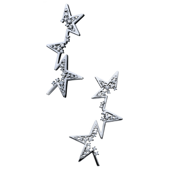 """abstract star Earrings EID-3914-PT900 