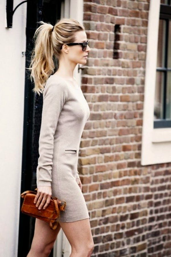 Sweater dress. | {fashion}