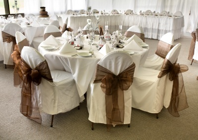 White & Brown Wedding Colors - Wedding Color Scheme Pictures