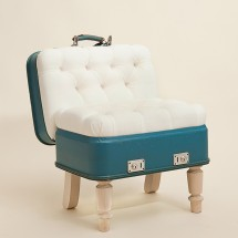 Suitcase Chair – White Silverline – Seating – Recreate