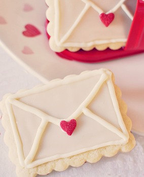 Valentine Special Love Letter Note Cookies 1 by LoveBirdBakery