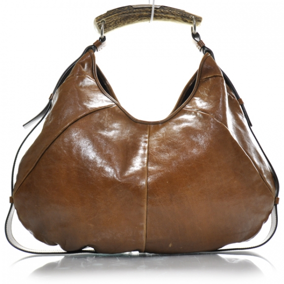 Fashionphile - YSL YVES SAINT LAURENT Leather Large Mombasa Horn Bag