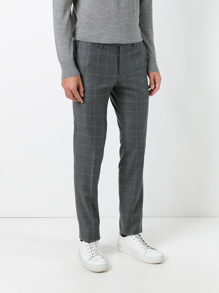 Pt01 Checked Trousers  - Umberto Giugliano - Farfetch.com