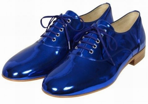 Picture - Christian Louboutin Fred Flat In Blue - Replica Shoes