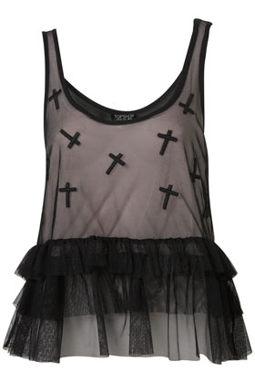 Applique Cross Tiered Cami - Going Out - Collections - Topshop