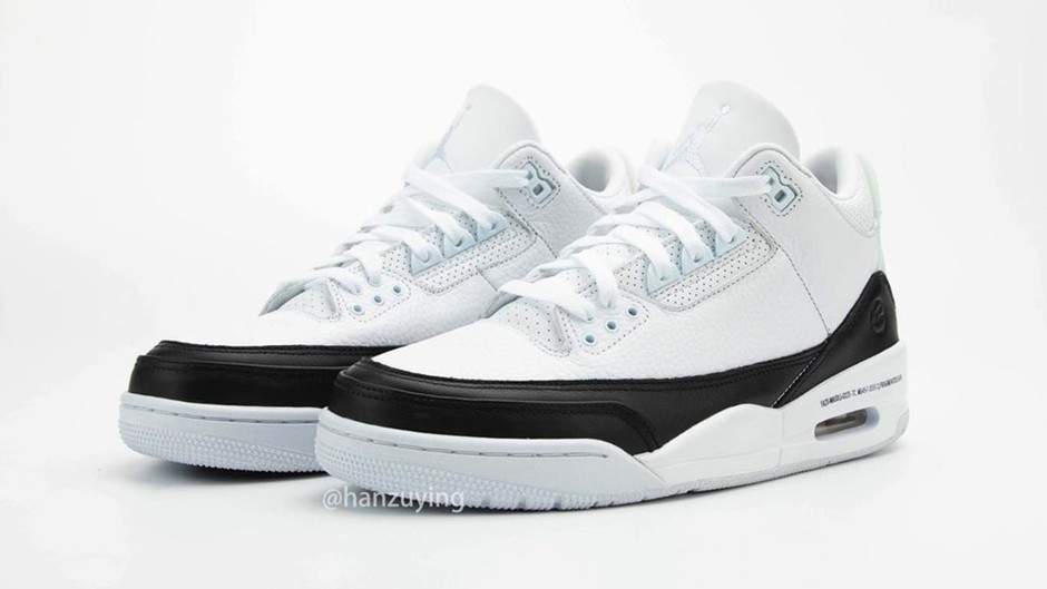 Fragment x Air Jordan 3 'White/Black' Release Date DA3595-100 | Sole Collector