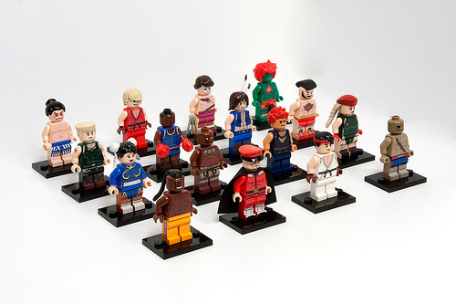Street Fighter 2 Minifigures Rejected on LEGO CUUSOO