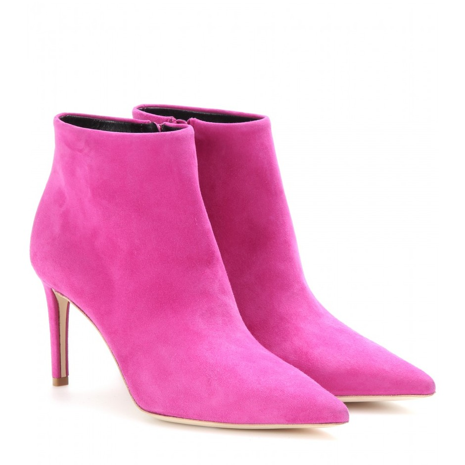 mytheresa.com - Suede ankle boots - Mid heel - Ankle boots - Shoes - Luxury Fashion for Women / Designer clothing, shoes, bags