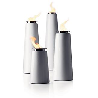 Lighthouse Outdoor Torch - Small, White - Design Within Reach