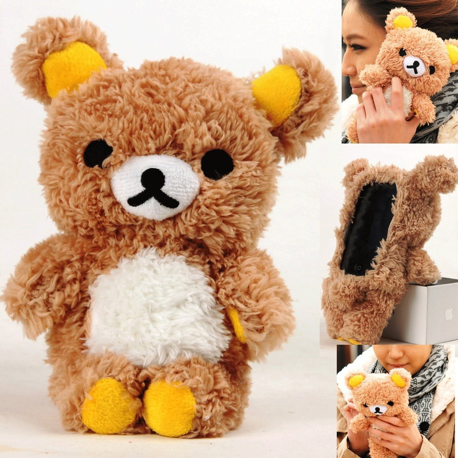 Amazon.com: Authentic iPlush Plush Toy Case for Apple iPhone 5 + A $5 Specially Designed Washing Bag as Gift (Brown Bear): Cell Phones & Accessories