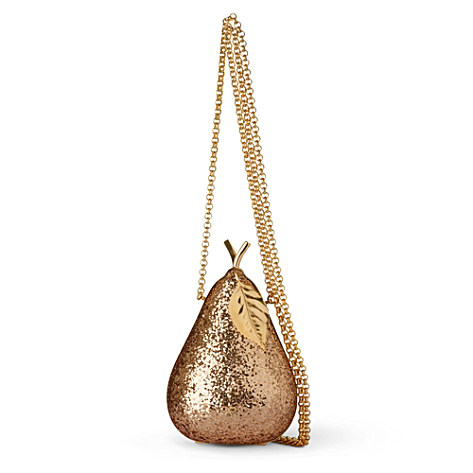 Pear glitter–embellished framed clutch - ANYA HINDMARCH - Accessories - Selfridges | Shop Online