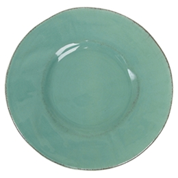 Dinner Plate in Solid Jade Green Organic Shaped - Rice A/S