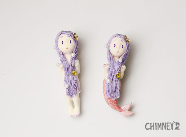 Little Little Mermaid [purple/human] - CHIMNEY web shop
