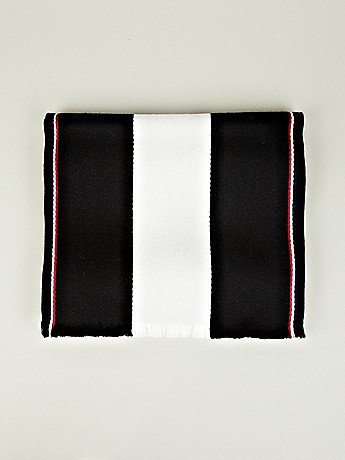 Fancy - Thom Browne Men's University Stripe Scarf in black at oki-ni
