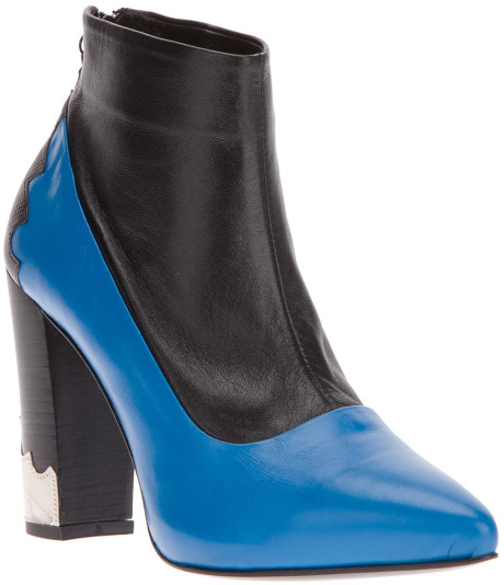 Toga Pulla Paneled Ankle Boot in Blue | Lyst